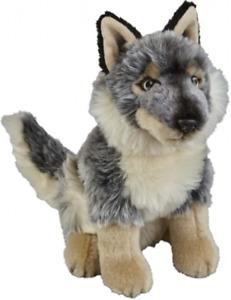 RAVENSDEN SOFT TOY WOLF 25CM - FRS004WO CUDDLY TEDDY PLUSH CUTE FLUFFY DOG WILD