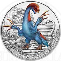 Österreich 3 Euro 2021 Therizinosaurus Super-Saurier Münze in gratis Münzkapsel