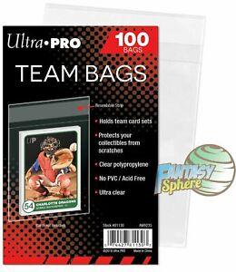 Team Bags Ultra PRO pour Toploader  100 Pochettes/Sleeves  Pokémon - Yu-Gi-Oh!