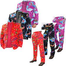 Mens Christmas Party Fancy Dress Novelty Pant Coat Waistcoat 3D Tie Lot Costumes
