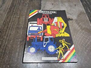 Britains 1981 Toy Catalogue Factory Catalog Of Models, Original
