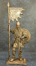 Tin Soldiers * Viking with the banner, 9-10 cc. * 60 mm