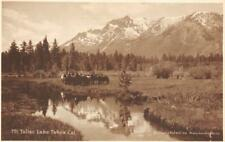 RPPC Mt. Tallac Meadows, Lake Tahoe, California ca 1910s Vintage Postcard