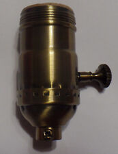 3-way Uno Thread Antique Brass Early Electric Industrial Style Lamp Socket 270A