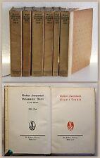 Gerhard Hauptmann gesammelte Werke in 6 Bänden 1906 Klassiker Weltliteratur xz