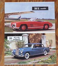 1958 Mercedes 300 SL Roadster 190 SL 200 W110 Ponton W120  USA Prospekt brochure