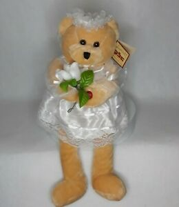 "Rare CHANTILLY LANE PBC Cohair Bride Bear Sings ""Chapel of Love"" Animated 22"""