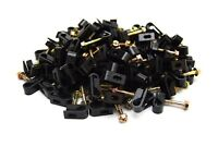 500 Pieces Black Single Flex Clips for RG6 RG59 Coax Cable Strain Relief Screw