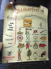 New listing Vintage Wiedemann Beer Oktoberfest poster 1980