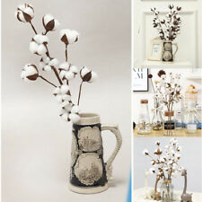 Naturally Dried Cotton Stems Farmhouse Artificial Flowers Filler Floral Decor WH