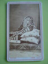 photo CDV  Alger ALGERIE FEMME COSTUME PHOTOG; PROD'HOM .carte de visite