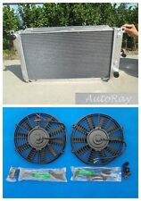 Aluminum Radiator for Ford Falcon Fairlane Fairmont EF EF2 EL NF NL DF DL+ Fans