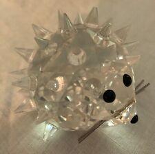 Swarovski Silver Crystal Large Hedgehog Whiskered Figurine, # 7630 - Retired
