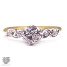 Antique solid 18ct gold diamond engagement ring