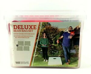 Wild Sports Deluxe Cornhole Toss Bean Bag Set XL Red 4 Count