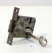 Serratura antica a incasso per mobili funzionante con chiave a55
