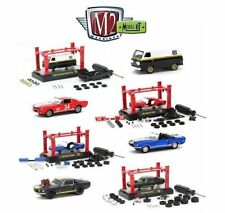 M2 Machines 1:64 MODEL-KIT & AUTO-LIFT WAVE 9 Set of 4 Diecast Car 37000-09H