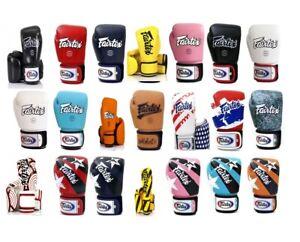 genuine 100% Custom  Fairtex BGV1 Muay Thai Boxing Gloves Training Sparring