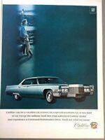 1969 Cadillac Sedan deVille Vintage Advertisement Print Art Car Ad Poster LG70