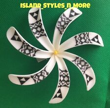TIARE Tahitian Gardenia TRIBAL WHITE Flower FOAM Hair CLIP Wedding Bridal Luau