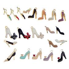 Wholesale Enamel Plated Assorted High Heels Pendant Charms DIY Findings 20pcs