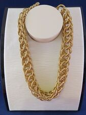 Chain Necklace (1130) Gold Tone Multi-ring