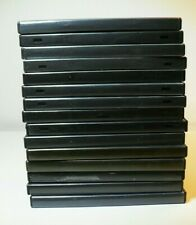 15 Empty Black  DVD Cases - Used but good condition