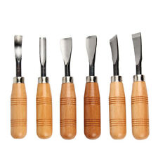 6Pcs Wood Carving Chisel Set Professional Sculpture Woodworking Crafting Tools