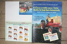 Case 420 520 600 800 1000 crawler tractor brochure VG original 6 pgs **