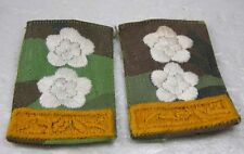 1 Pair Authentic Souh Vietnam War RVN  ARVN Yellow And White Flower Cotton Rank