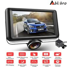 "4.5"" Car DVR 360° Panoramic HD Dash Cam Video Recorder Dual Lens With Backup Cam"