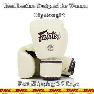 Real Leather Boxing Gloves Especially Designed for Women Soft Touch Fairtex