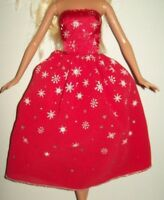 "Genuine Barbie Dress Red Ball Gown Dance Party 11.5"" Friends Doll Clothing"