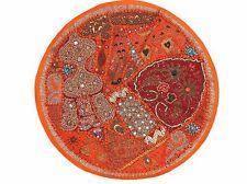 "Orange Decorative Round Floor Pillow Cover Living Room Accent India Cushion 26"""