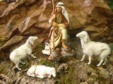 Landi Nativity Scene Shepherd with Sheep Figurine Pesebre Figura Pastor Ovejas