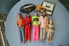 Vintage Celebrity Dolls-Elvis,Luke 90210,Vanilla Ice,Michael Jackson, Anakin