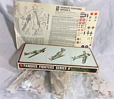 Famous Fighters Series II  3 COMPLETE Plastic Model Kits 1:72 Scale 3956-130 AMT
