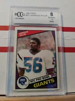 1984 TOPPS FOOTBALL #321 LAWRENCE TAYLOR BECKETT 8 EXCELLENT HOF GIANTS