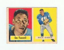 1957 Topps EM TUNNELL - GIANTS # 35 Football Card NR