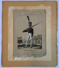 More details for antique print engraving troupes lrufsiennes garde royale bataillon
