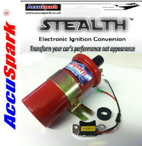 Triumph TR4/A AccuSpark Stealth Electronic ignition & Sports coil for Lucas 25D