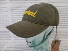 TIMBERLAND Baseball Cap Mens Embroidered Khaki Green Sports Caps Hat BNWT R£30