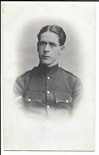 WW1 RP Portrait of Uniformed Corporal, PC Back Dated 1915, Named Tom
