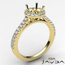 18k Yellow Gold Semi Mount 0.5Ct Shared Prong Set Round Diamond Engagement Ring