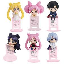 New Sailor Moon Tsukino Usagi Black Lady Quality 6pcs Set 5cm Figuren Figur NB