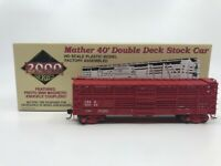 Proto 2000 Mather 40' Double Deck Stock Car (HO Scale)