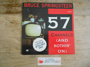 """french 7"""" Bruce SPRINGSTEEN """"57 Channels"""" with unique jukebox strip & sticker !"""