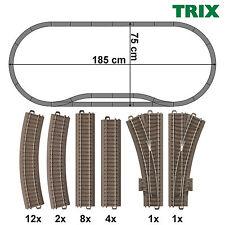 Trix 62000-S1 H0 C-Gleis-Set 28-teilig mit 2 Weichen ++ NEU ++