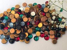 Vintage Glass Cabs Mixed colour Round Flatback 9mm Pk of 20 CRAFT Post Free