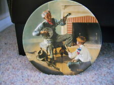 "Edwin M Knowles Norman Rockwell's ""The Banjo Player"" 1989 Collector Plate #5027F"